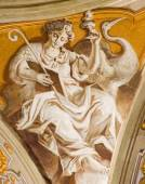 PADUA, ITALY - SEPTEMBER 8, 2014: The fresco of cardinal virtue of Hope in Cathedral of Santa Maria Assunta (Duomo) in the chapel of bishop Gregorio Barbarigo from year 1762 by Giovanbattista Mingardi — Stock Photo