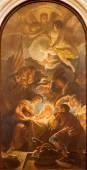 PADUA, ITALY - SEPTEMBER 10, 2014: The Adoration of the Shepherds by Guido Cirello (1633 - 1709) in church chiesa di Santa Maria del Torresino. — Stock Photo