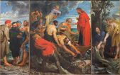 MECHELEN, BELGIUM - JUNE 14, 2014: The Miracle fishing triptych (1618) by Peter Paul Rubens in church Our Lady across de Dyle. — Stock Photo