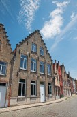 Bruges - Typicaly brick house from Sint Annarei street. — Stockfoto