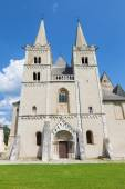 Spisska Kapitula - Saint Martins gothic cathedral from west. Unesco monument. — Stock Photo