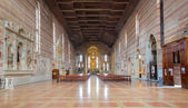 PADUA, ITALY - SEPTEMBER 9, 2014: The nave of church Chiesa degli Eremitani (Church of the Eremites). — Stock Photo