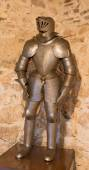 SPISSKY CASTLE, SLOVAKIA - JULY 19, 2014: The medielval armour. — Stock Photo