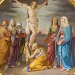 Постер, плакат: BERGAMO ITALY SEPTEMBER 8 2014: The Crucifixion fresco in church Santa Maria Immacolata delle Grazie by Giuseppe Carsana 1866