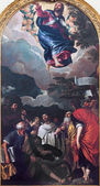 PADUA, ITALY - SEPTEMBER 9, 2014: The Ascension of the Lord by Paolo Veronese (1528 - 1588) in church Santa Maria dei Servi. — Stock Photo