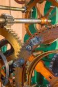 Detail of clockwork from colcktower — Stock Photo