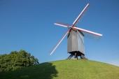 Brges - Wind-mill Sint Janshuismolen — Stock Photo