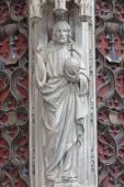 メッヘレン, ベルギー - 2014 年 6 月 14 日: gothc pastroforium から panthokrator のキリストの像デ ダイル全体の私達の女性の教会. — ストック写真