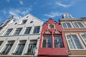 BRUGES, BELGIUM - JUNE 13, 2014: Typically house from Breidelstraat street. — Stock Photo