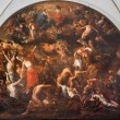 ������, ������: BRUGGE BELGIUM JUNE 13 2014: The Last judgment fresco in The Annakerk or Annes church by Henri Herrecoudts 1665
