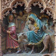 MECHELEN, BELGIUM - JUNE 14, 2014: Carved statue of the Fly to Egypt scence new gothic side altar of church Our Lady across de Dyle. — Stock Photo #54234295