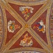Постер, плакат: PADUA ITALY SEPTEMBER 8 2014: The ceiling fresco in church San Francesco del Grande with the Four Evangelist in chapel Santa Maria della Carita by Girolamo Tessari 1523 24