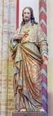 Bruges, Belçika - 13 Haziran 2014: İsa heykeli St giles Kilisesi (sint gilliskerk kalp) — Stok fotoğraf