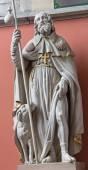 MECHELEN, BELGIUM - JUNE 14, 2014: The statue of st. Roch st. Katharine church or Katharinakerk. — Stockfoto