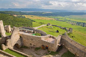 Spissky castle - Look from tower to south and courtyards — Stock Photo