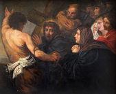 MECHELEN, BELGIUM - JUNE 14, 2014: Jesus meets his mother. Paint by unknown painter in church Our Lady across de Dyle. — Stock fotografie