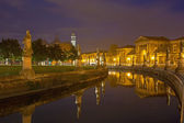 Padua - Prato della Valle at night — Stock Photo