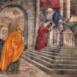 PADUA, ITALY - SEPTEMBER 8, 2014: The Presentation in the Temple fresco in the church San Francesco del Grande in chapel Cappella di Santa Maria della Carita by Girolamo Tessari (1523 - 24) — Stock Photo #54242741