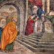 PADUA, ITALY - SEPTEMBER 8, 2014: The Presentation in the Temple fresco in the church San Francesco del Grande in chapel Cappella di Santa Maria della Carita by Girolamo Tessari (1523 - 24) — Stock Photo #54242741