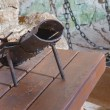 SPISSKY CASTLE, SLOVAKIA - JULY 19, 2014: The highboot for torture from oubliette the castle. — Stock Photo #54243799