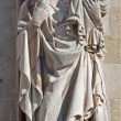 BRUGES, BELGIUM - JUNE 13, 2014: Statue of Madonna on facade of town hall. — Stock Photo #54249709