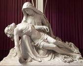 MECHELEN, BELGIUM - JUNE 14, 2014: The Pieta statue in st. Katharine church or Katharinakerk. — Stock fotografie