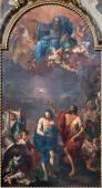 BOLOGNA, ITALY - MARCH 15, 2014: The Baptism of Christ by Ercole Graziani from 17. cent. in Dom - Saint Peters baroque church. — Zdjęcie stockowe
