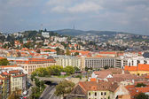 BRATISLAVA, SLOVAKIA - OCTOBER 11, 2014: Outlook form st. Martins cathedral to the town. — Stock Photo
