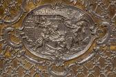 Trnava, Słowacja - 14 października 2014: Metalowe ulgę Narodzenia na ołtarzu w kaplicy Nmp zaprojektowany przez A. Huetter (1739-1741) w kościele św. — Zdjęcie stockowe