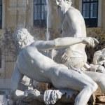 Vienna - The Fountain in the Forecourt Schonbrunn palace by Franz Anton von Zauner, Joseph Baptist Hagenauer with symbolic statue of regions  Galicia, Volhynia, and Transylvania. — Stock Photo #58892555
