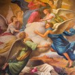 ������, ������: SEVILLE SPAIN OCTOBER 28 2014: The neo baroque fresco of Assumption of Virgn Mary in the presbytery of church Capilla Santa Maria de los Angeles by Rafael Rodriguez Hernandez from 20 cent