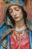 SEVILLE, SPAIN - OCTOBER 28, 2014: The detail of cried Virgin Mary statue in church Iglesia de San Roque. — Stock Photo
