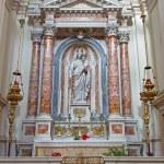 Постер, плакат: VENICE ITALY MARCH 11 2014: The side altar by Antonio Rosa with the Madonna of the Rosary 1836 in church Santa Maria del Rosario Chiesa dei Gesuati
