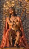 SEVILLE, SPAIN - OCTOBER 29, 2014: The statue of Jesus in bond in church Iglesia de la Anunciacion by Agustin Perea (1687) — Stock Photo