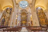 SEVILLE, SPAIN - OCTOBER 28, 2014: The baroque Church of El Salvador (Iglesia del Salvador) with the main altar (1770 - 1778) by Cayetano de Acosta . — Fotografia Stock