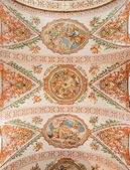SEVILLE, SPAIN - OCTOBER 28, 2014: The fresco on the ceiling in church Hospital de los Venerables Sacerdotes by Juan de Valdes Leal (1622 - 1690). — Stock Photo