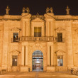 Seville - The facade of University fromer Tobacco Factory at night. — Stock Photo #59092201