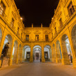 Постер, плакат: Seville The atrium of University fromer Tobacco Factory at night