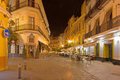 SEVILLE, SPAIN - OCTOBER 29, 2014: The typically street at night. — Stock Photo