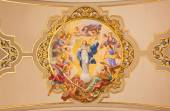 SEVILLE, SPAIN - OCTOBER 29, 2014: The fresco Virgin Mary as Immaculate conception on the ceiling in church Basilica de la Macarena by Rafael Rodrguez (1949) in neobaroque style. — Stock Photo