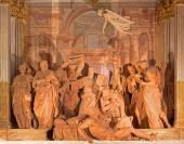 "BOLOGNA, ITALY - MARCH 15, 2014: ""Transit of the Madonna"" is a group of 14 statues in terracotta (1522) by Alfonso Lombardi in ""Oratorio de Batutti"" by baroque church Santa Maria della Vita. — Stock Photo"