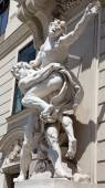 Vienna - Statue of Hercules fighting Antaeus from entry to Hofburg palaces — Stock Photo