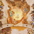 PADUA, ITALY - SEPTEMBER 8, 2014: Fresco on the ceiling of presbytery of Basilica di Santa Giustina by Sebastiano Ricci (1700). The central motive is the Adoration of angels for the Eucharist. — Stock Photo #59135277