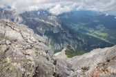 Alps - Outlook from ascent on Watzmann — Stock Photo