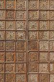 Padua - Old wood gate of the church Basilica del Carmine. — Stock Photo