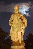 Padua - Statue on Prato della Valle at night. — Stock Photo