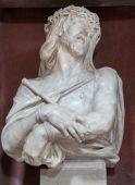 """パドヴァ, イタリア - 2014 年 9 月 8 日: バスト""""Ecce Homo""""- キリスト教会サン ・ フランチェスコ ・ デル ・ グランデでフィリッポ ・ぱろ (1630 年-1702 年) による結合. — ストック写真"""