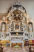 "PADUA, ITALY - SEPTEMBER 9, 2014: Baroque side altar of Virgin Mary ""Altare dell'Addolorata"" from 17. and 18. cent. of  in church Santa Maria dei Servi. — Stock fotografie"