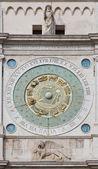 Padua - Torre del Orologio (astronomical clock tower) and st.  on Piazza dei Signori square. — Stock Photo
