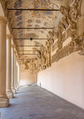 Padua - The atrium and the external corridor of Palazzo del Bo — Stock fotografie